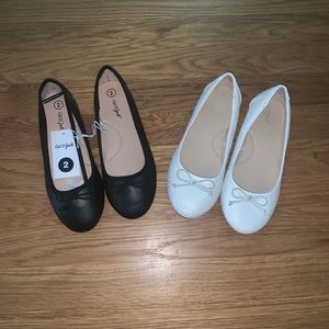2 Pair of Cat & Jack Ballet Shoes Size 2Y